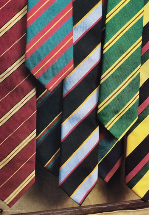 Assortment of classic regimental ties and repp-stripe ties