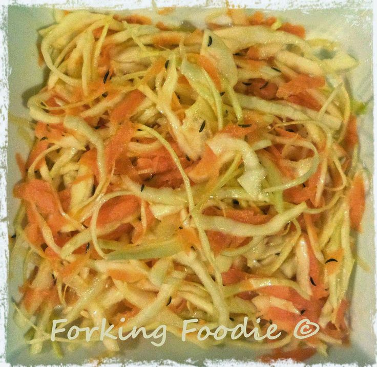 Forking Foodie: Speedy Shredded Carrot, Cabbage and Caraway / Cumi...
