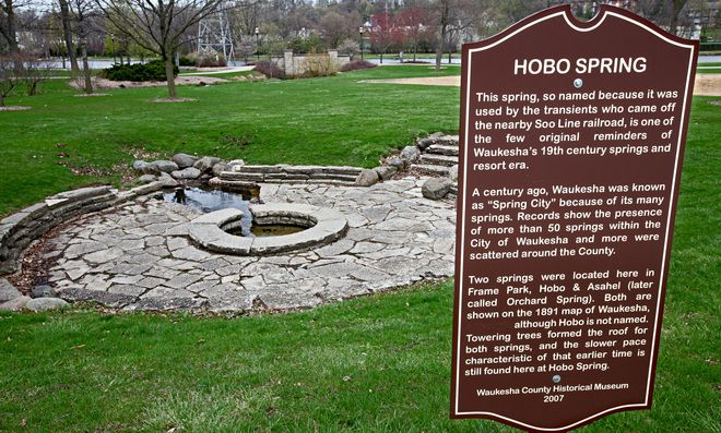Hobo Spring In Frame Park Milwaukee Wisconsin Waukesha