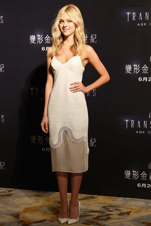 Hollywood's new girl-next-door: Nicola Peltz attended a press conference in Hong Kong for Transformers: Age of Extinction http://dailym.ai/1jDYScM