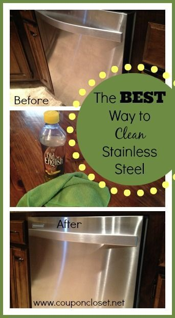 How to Clean Stainless Steel with very little work - you just need one ingredient to have beautiful stainless steel appliances that look like new. No more streaks!