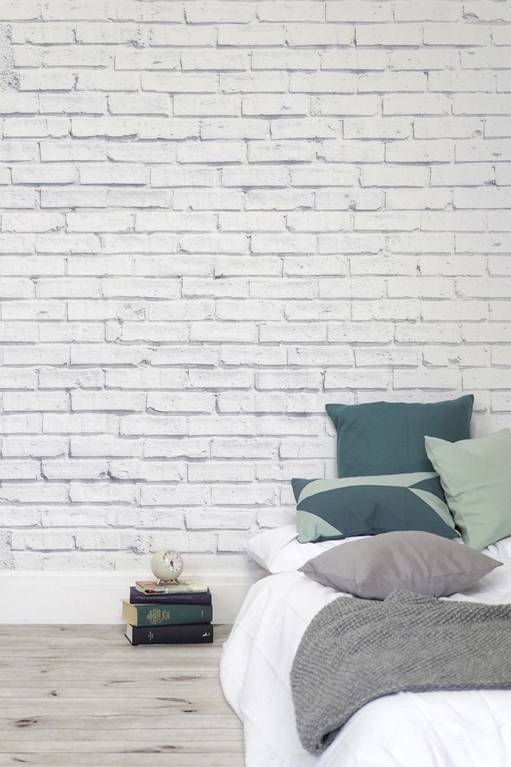 25 best ideas about brick wallpaper on pinterest wall for White exposed brick wall