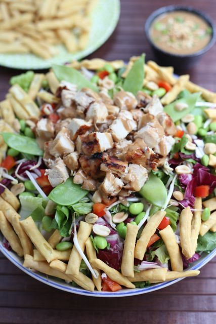 Asian Chopped Chicken Salad with Ginger Peanut Dressing | Recipe ...