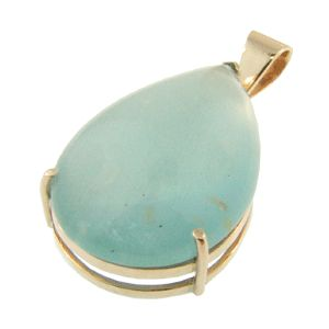 9ct Rose Gold & Aquamarine Pendant. Handmade at Cameron Jewellery by Sam Drummond. NZD$1995.00
