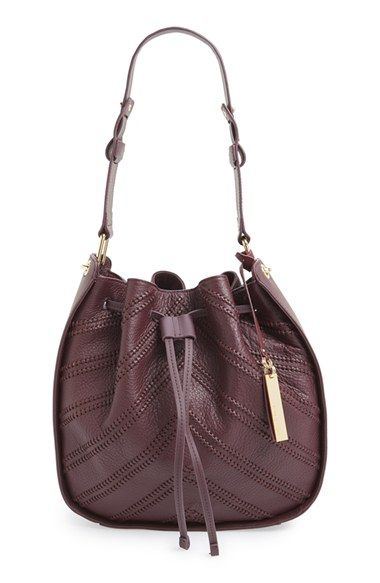Free shipping and returns on Vince Camuto'Rayli' Whipstitch Chevron LeatherHobo Bag at Nordstrom.com. Whipstitched chevrons detail a pebbled-leather hobo bag featuring smooth leather sidepanels for a richlytextured look. A wider shoulder strap, super-roomy interior and gilt hardware complete the sleek, modern style.