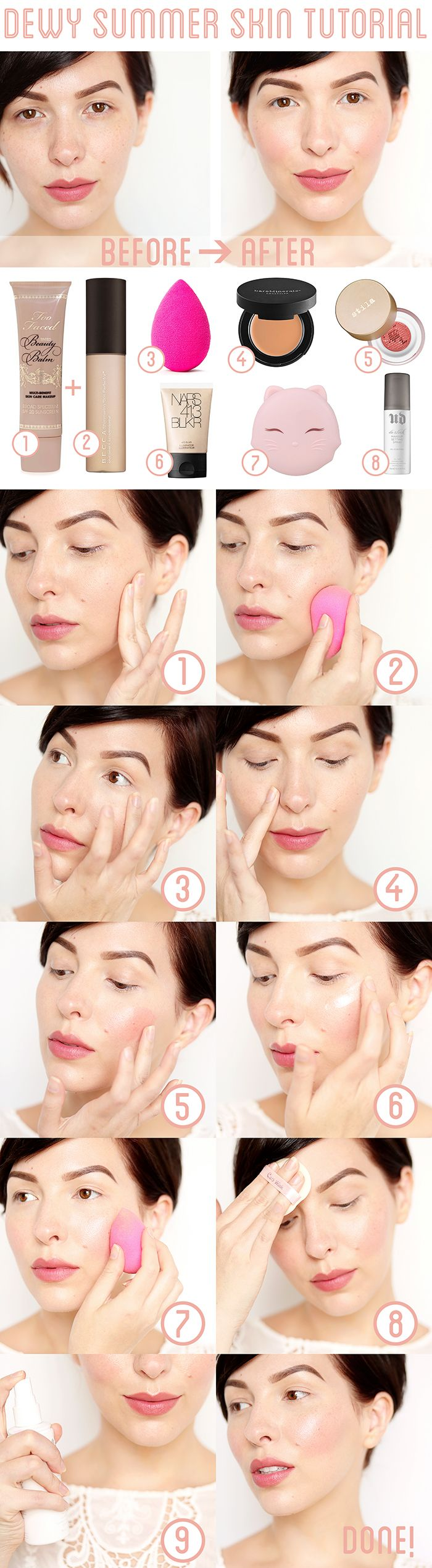 Makeup Monday: Dewy Summer Skin Tutorial