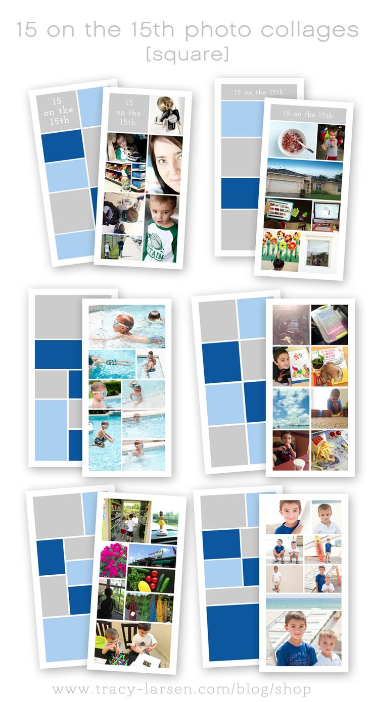 52 best Photo collage templates images on Pinterest | Fotoalben ...