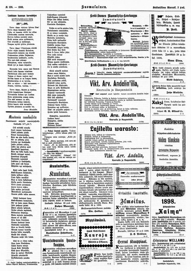 02.11.1898 Suomalainen no 126 - Sanomalehdet - Digitoidut aineistot - Kansalliskirjasto