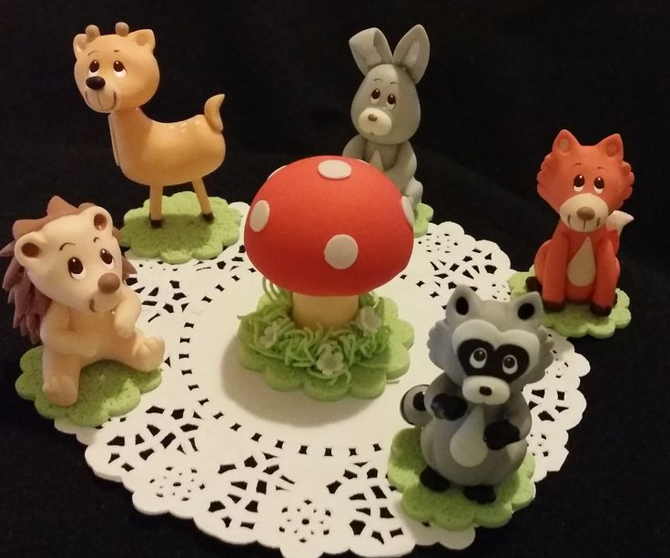 Forest Baby Animals, Woodland Cake Toppers, Woodland Cake Decorations For Baby…