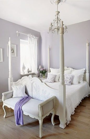 Lavender Guest Room Shabby Chic Villa In Poland Interiors White Home