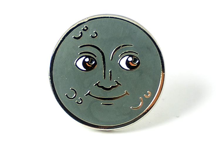 Moon Face Pin by PINTRILL