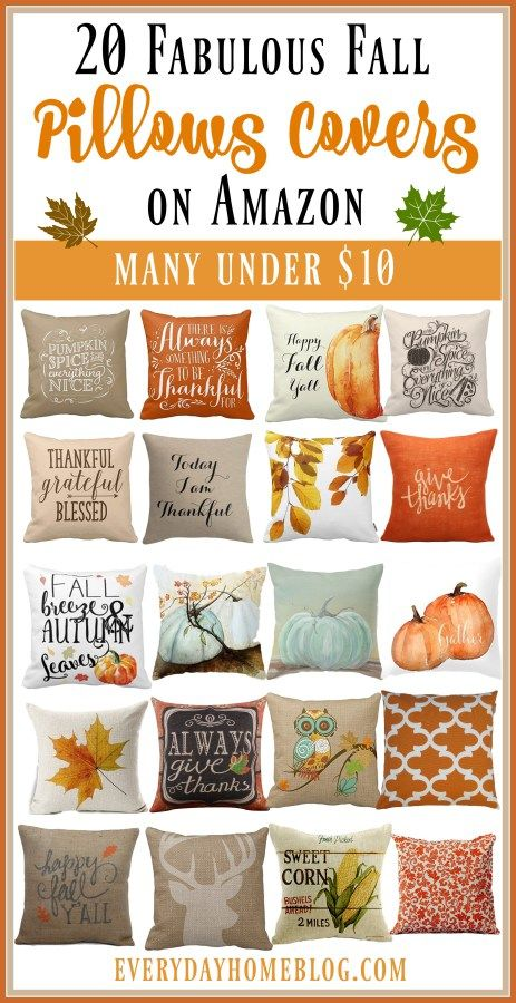 20 Fabulous Fall Pillow Covers on Amazon | The Everyday Home | www.everydayhomeblog.com
