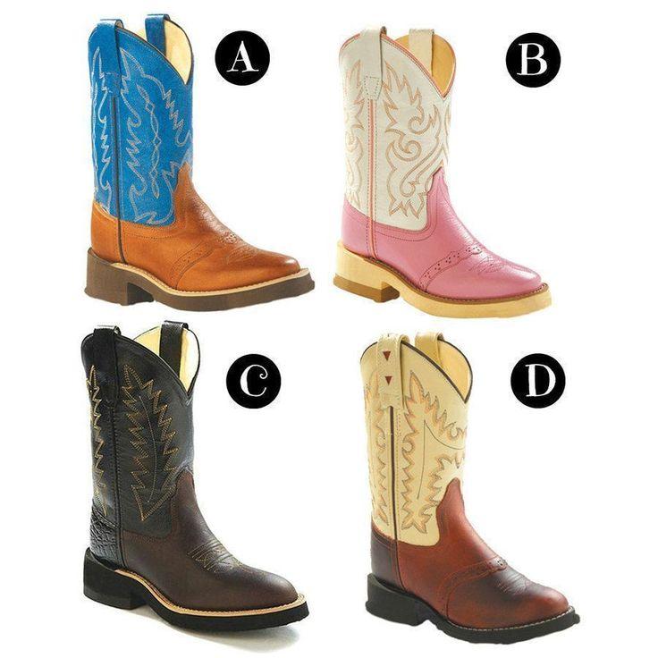 Stivali da bambino per monta western, Old West modello Young in pelle di alta qualità e pianta in cuoio.