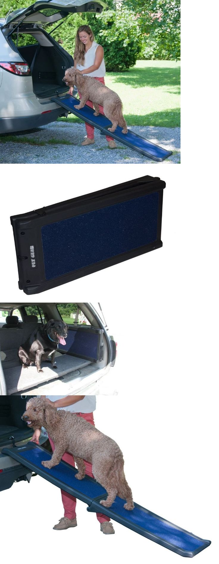 Ramps and Stairs 116389: Folding Portable Pet Ramps And Steps For Large Dogs Folding Suv Car Truck BUY IT NOW ONLY: $67.99
