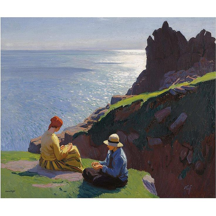 Laura Knight - On the Cliffs, 1917