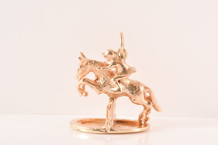 Gold Jumping Horse Charm