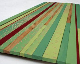Abstracte kunst | 'Shoal' | Hout van kunst aan de muur | Rotsvlinder kunst | Hand gravure | Wall Art |