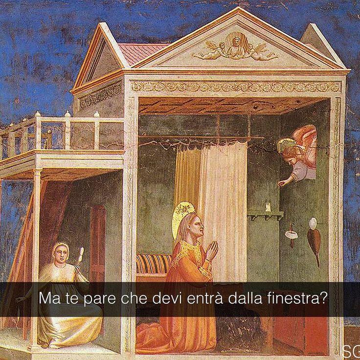 Annunciazione - Giotto (1306) _________ MAI 'NA GIOIA è disponibile in tutte le librerie e su Amazon e IBS! _________ #seiquadripotesseroparlare #StefanoGuerrera