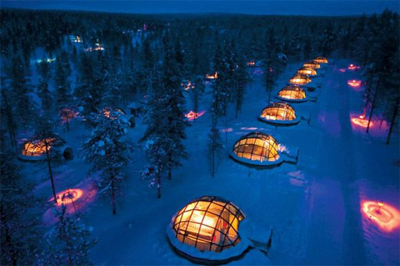 Hotel Kakslauttanen in the Finnish part of Lapland.