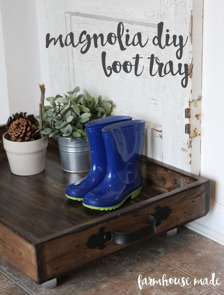 See how we made our own DIY Magnolia Boot Tray!