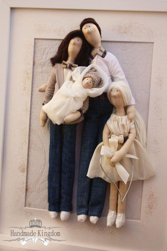 Retrato personalizado de muñeca Tilda, estilo Burberry, unido a mano por Valeria Olsson