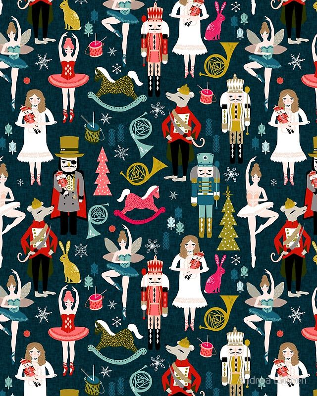 Christmas Nutcracker Ballet Wallpaper