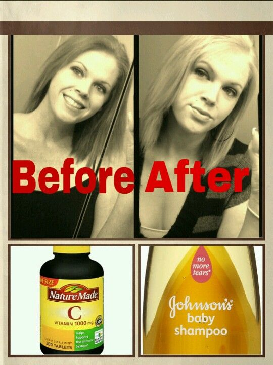 I used absolutely no bleach or harsh chemicals to lighten my hair, just fallow these simple steps and enjoy...  Take 10 vitamin C tablets and crush them into a powder, add enough baby shampoo to the powder to make a paste. Apply to the hair that you want to lighten, (for your whole head you may need more then 10 tablets) wrap your hair in plastic and let it set at least 1-2 hours. Wash it out and enjoy your new look!!!