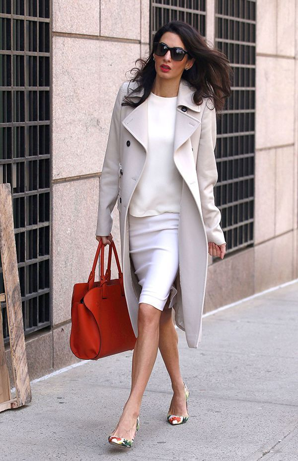 Office Look Por Amal Clooney
