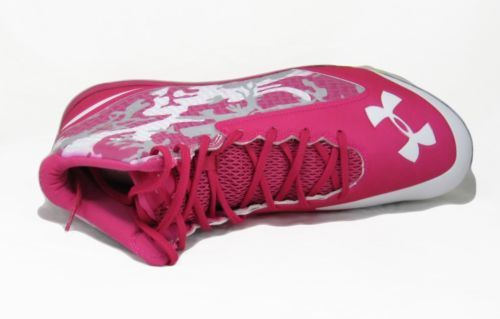 Pink Under Armour Football Cleats