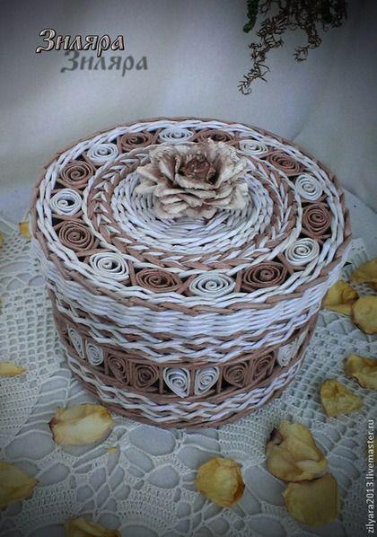 Корзины, коробы ручной работы. Ярмарка Мастеров - ручная работа Шкатулка с цветком. Handmade.
