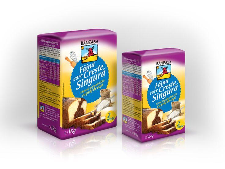 Baneasa Self Rising Flour packaging design by Gilbert Vasile