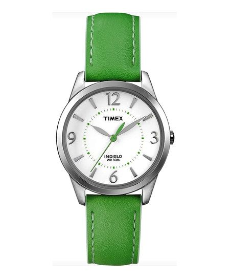 Green Weekender Leather Watch