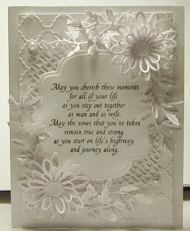 Wedding card using Cherry Lynn die cuts