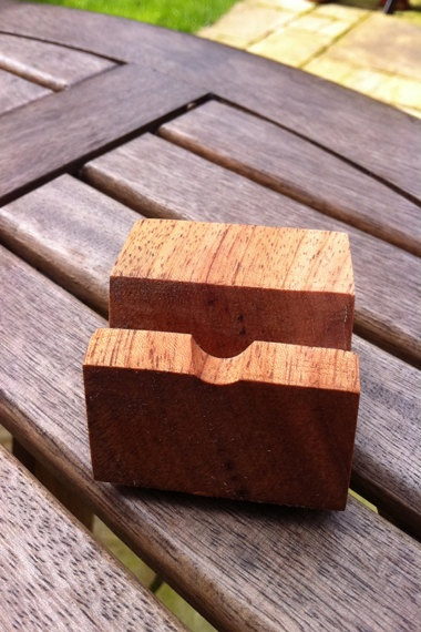 Hand Made Wooden iPhone Stand made in Cherry Wood with by JillyMix, £9.99