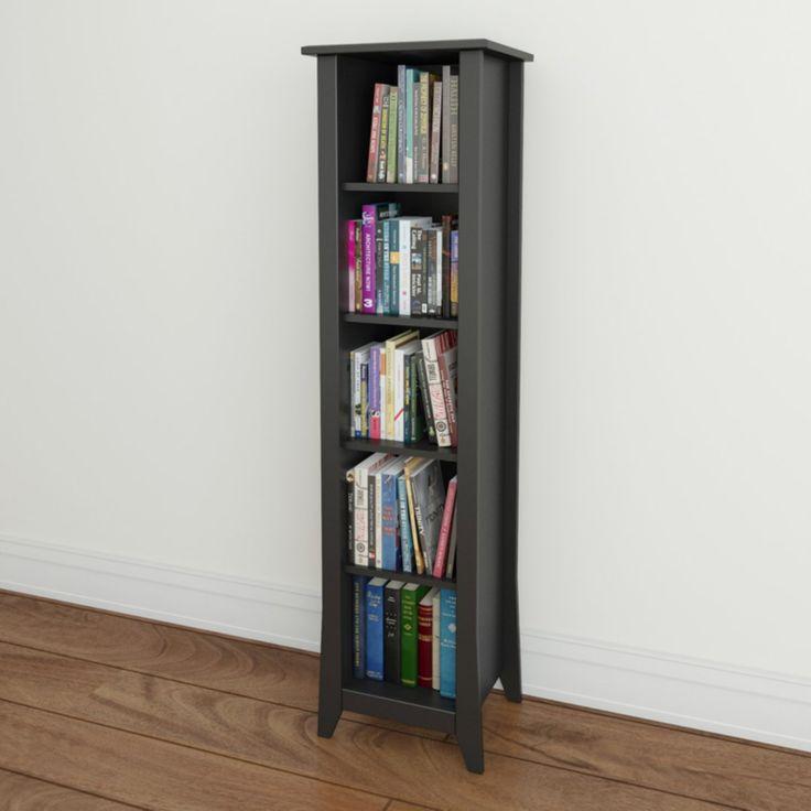 Megalak Finition Tuxedo 60 in. Slim Bookcase - Black - 200206