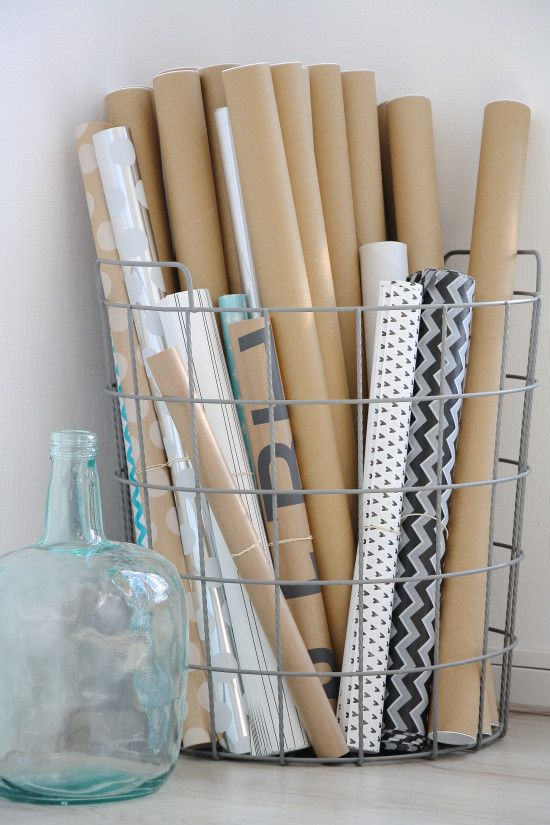 best 25 wrapping paper storage ideas on pinterest gift wrap storage gift wrapping supplies. Black Bedroom Furniture Sets. Home Design Ideas