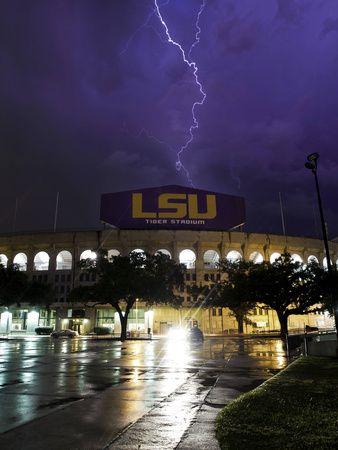 Louisiana State University - Tiger Stadium Lightning