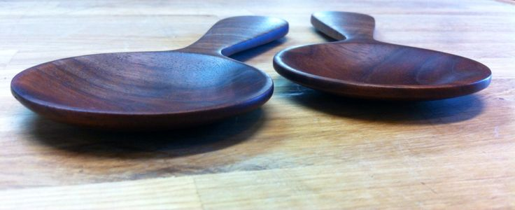 Black walnut serving spoons