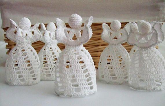 Crochet Christmas ornamentsChristmas crochet angelHandmade