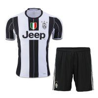 Juventus 2016-17 Season Home Soccer Uniform (Shirt+Shorts)