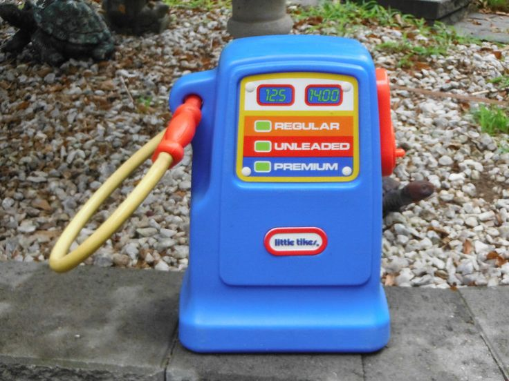 Vintage Liitle Tikes Gas Pump W Nozzle Amp Working Bell