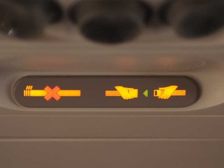 Seatbelt and No Smoking Sign