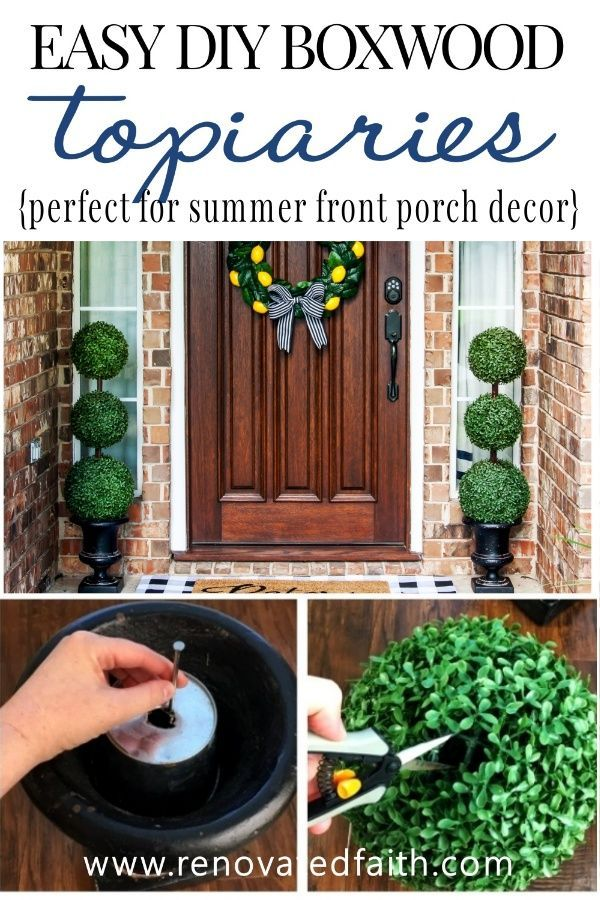 The Easiest Diy Topiary Trees On A Budget Topiary Decorating Ideas Topiary Topiary Trees Easy Diy