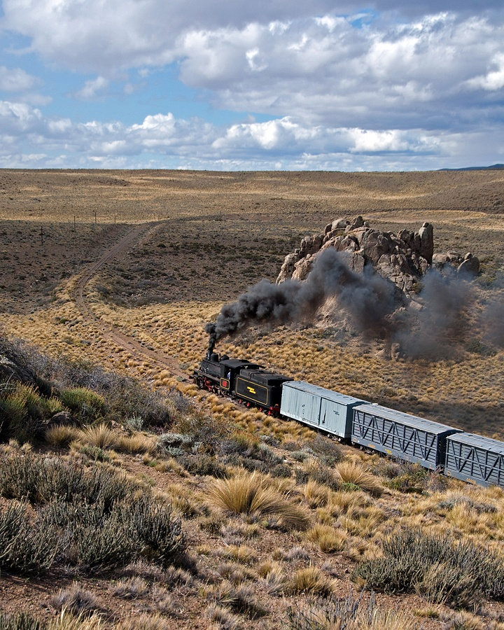 Railroads in South America are unique. In March 2012 John West returned to Patagonia in Argentina for the first time since the 1970s to ride the narrow gauge line to Esquel. Amazingly it survives.