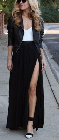 Sensuales outfits que puedes lograr con una falda abierta