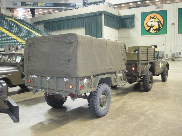 1967 M715 and 1968 M101 A1 Trailer | Jeep Kaiser M715/M725 ...