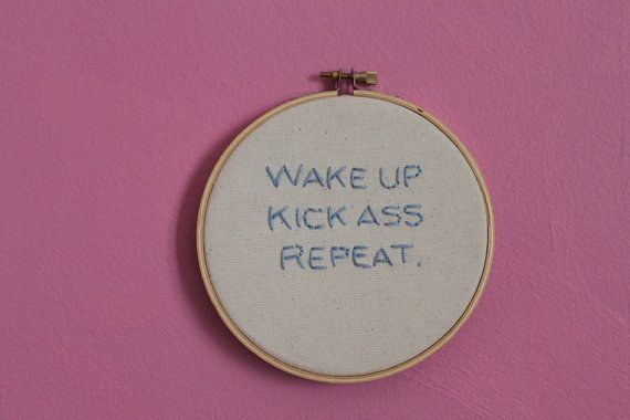 For the not-so-morning people. | 19 Motivational Embroideries You'll Actually Want To Own