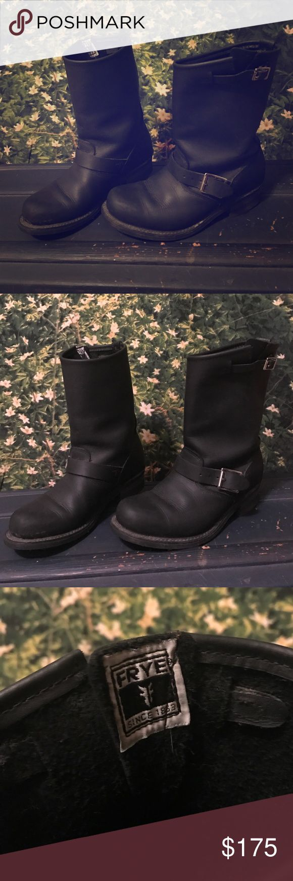 Frye engineer boots Black Frye engineer boots. Gently used, excellent condition. Size 8.5 Frye Shoes Combat & Moto Boots