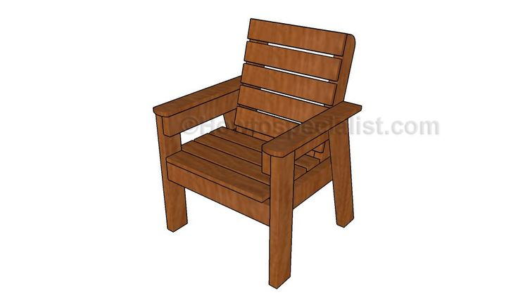 How to Build an Outdoor Chair – HowToSpecialist – How to Build, Step by Step DIY Plans