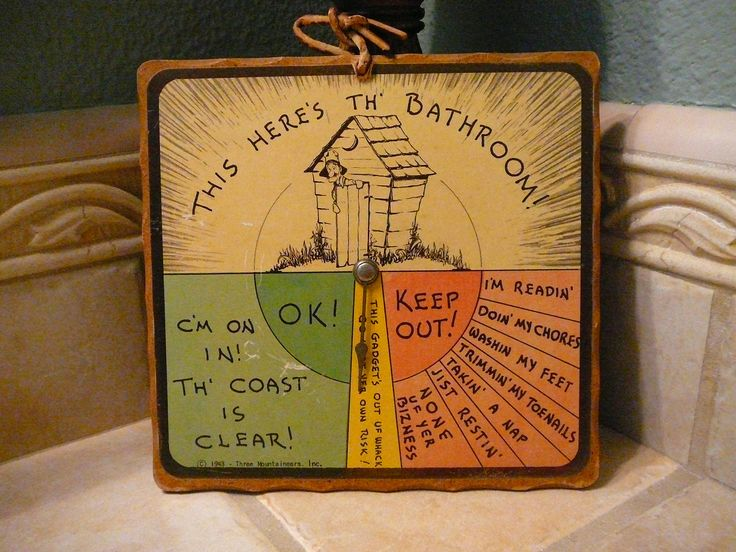 Vintage Bathroom Sign 1943 Collectible Three